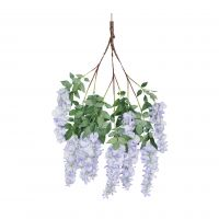 83cm MultiBranch Short Wisteria Branch - Lilac