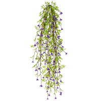 Hanging Green Leaves with Purple Flowers (Fire Resistant)